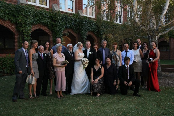 kristian and pene's wedding family photo