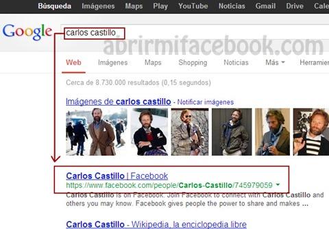 Eliminar perfil facebook de google