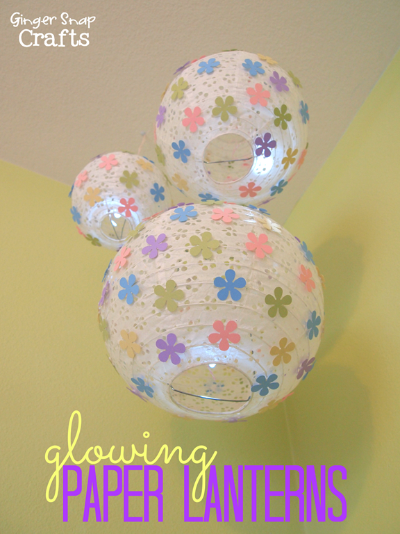 Glowing Paper Lanterns #tutorial #papercraft