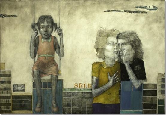 secretos-oleo-y-collage-sobre-tela-120x180