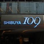 shibuya 109 logo in Shibuya, Tokyo, Japan