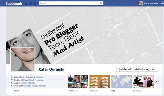 Novo Facebook: Perfil com imagens criativas