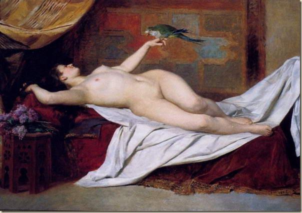 Joseph Straka, femme au perroquet