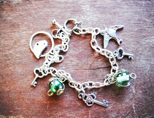 Bird and Keys Bracelet