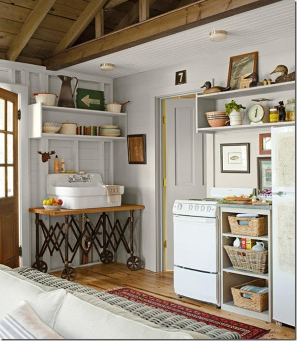 Piccoli spazi cottage sul lago 46 mq case e interni for Idee di design per la casa sul lago