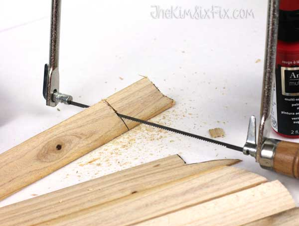 Cutting shim with coping saw