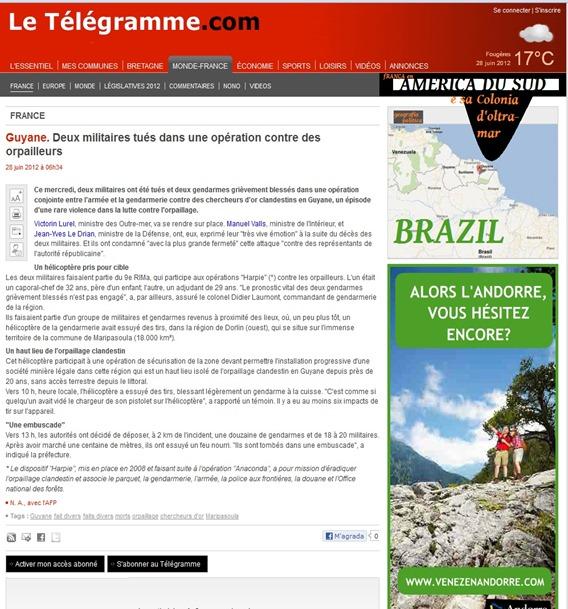 Accident militar en Guiana