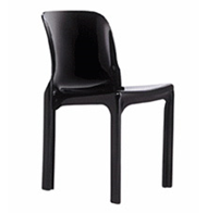 Heller reissue of Selene chair, black