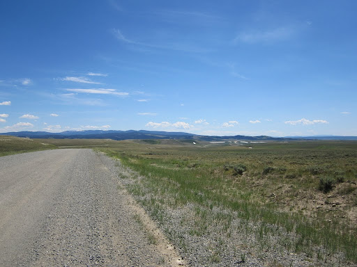 Just maybe some trees in the distance, only bad gravel roads, steep hills and strong headwinds in the way