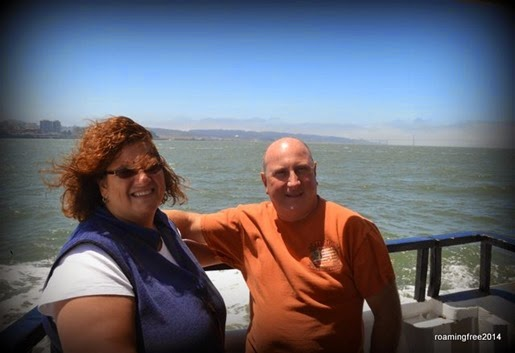 On the ferry to Alcatraz