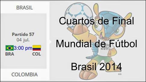 Ver Online Cuartos de Final, Mundial FIFA Brasil 2014: 4 y 5 Julio (HD)