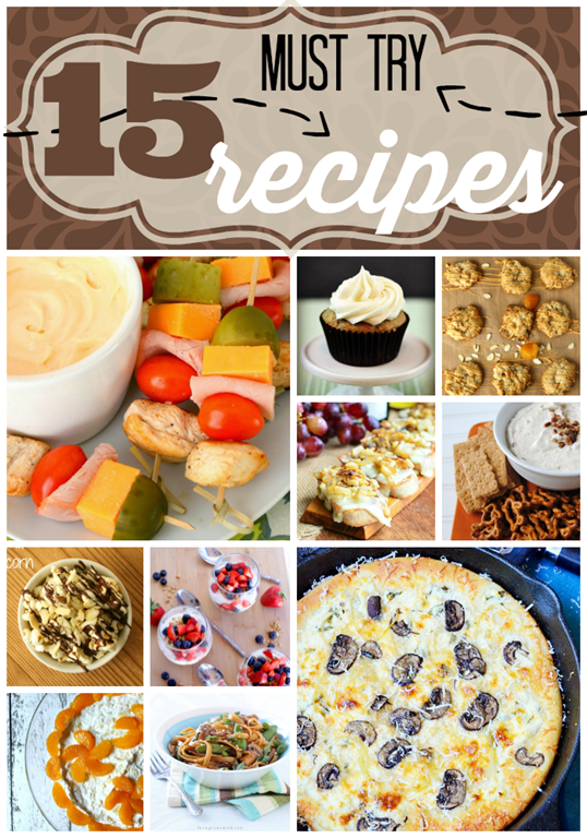 15 Must Try Recipes at GingerSnapCrafts.com #recipes #linkparty #features