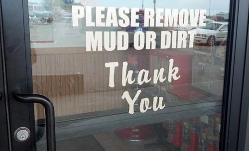 Remove mud