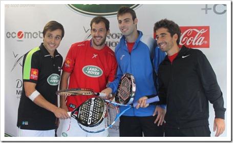 La firma patrocina el reto pádel vs tenis, con Juan Martín Díaz y Fernando Belasteguin como protagonistas junto a Marc López y Marcel Granollers, y otras actividades que se desarrollan en la pista montada en el village del Ágora
