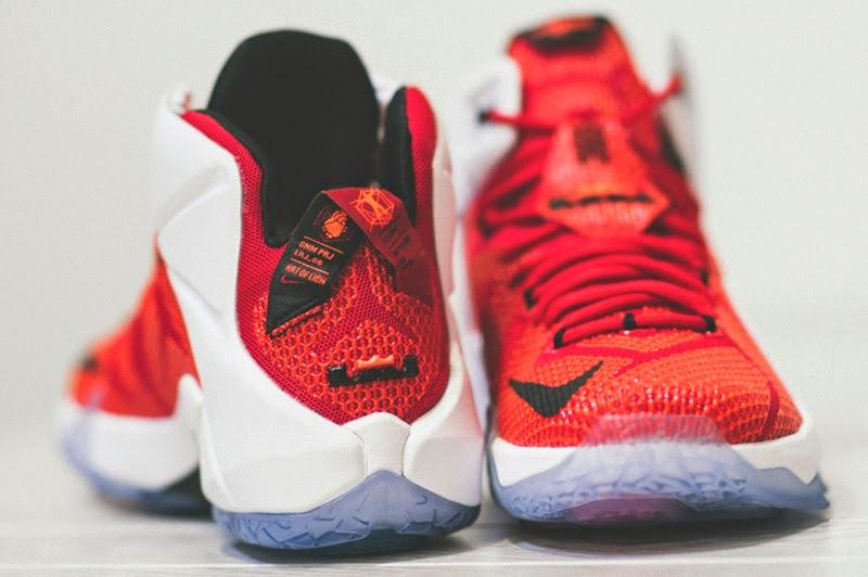 Nike LeBron 12 Lion Heart Red White Black
