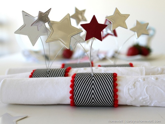 Patriotic Napkin Rings with Stars via homework ~ carolynshomework (8)