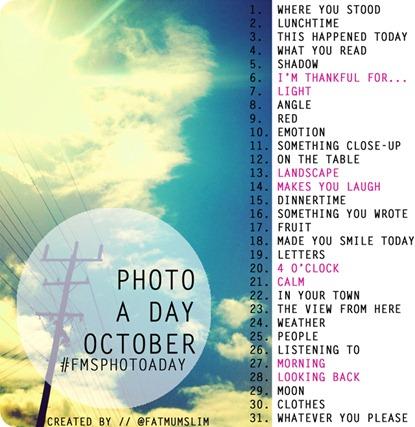 Foto reto para una foto cada día de Octubre