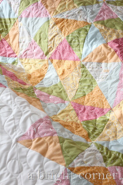Sweet Talk quilt with waves and loops quilting