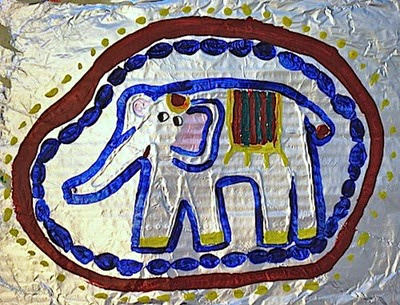Asian_Elephant_Art project from Kid World Citizen