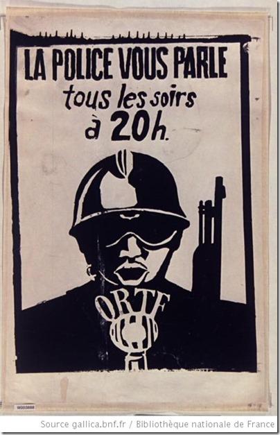 la police vous parle tous le soirs a 20h - maj 1968