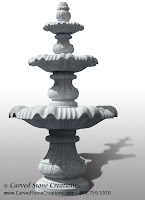 Lg Classical 3-Tier Fountain, D72 Bianco Catalina Granite