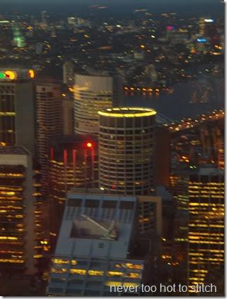 Australia Square Tower at night