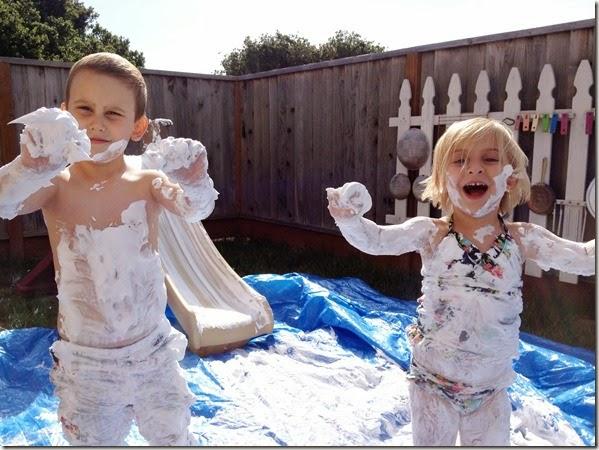 Shaving Cream Slide Fun