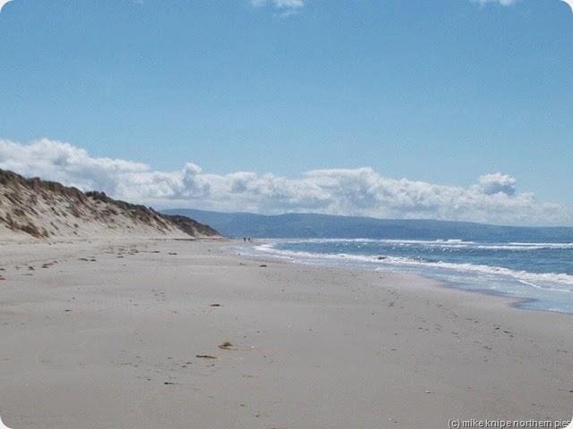 the beach is biig