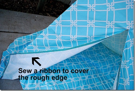 sew a ribbon on the edge