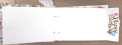 Cape Kellys birthday book orange envelope open