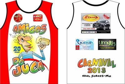 Abadá do Bloco Amigos do Juca para o Carnaval de 2013 · camisa juca branca a5fc1be08465e