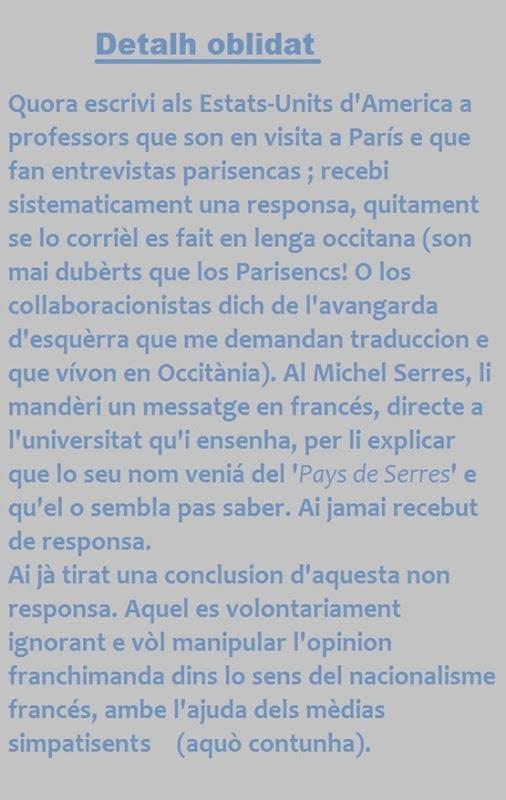 Michel Serres Detalh Oblidat