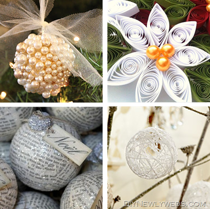 DIY White Ornaments