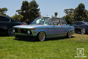 BMW 2002 bagged sitting on Enkei 92's