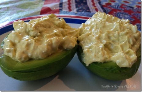 egg salad avocado boats
