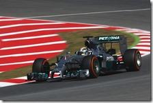 Hamilton conquista la pole del gran premio di Spagna 2014