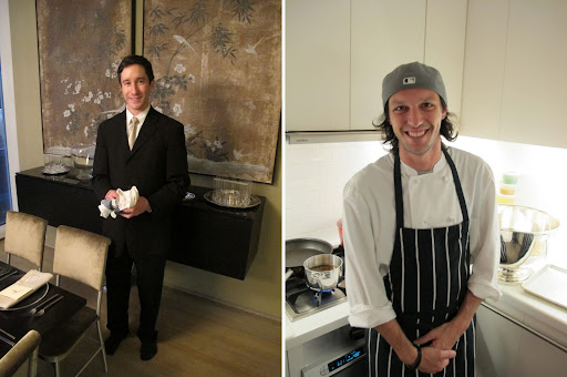 Having incredibly talented help in the kitchen and around the dining room meant that I could focus on playing host. Tremendous service from Gregory and Paul's stellar cooking assistance made the whole night possible.