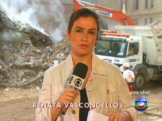 """Renata Vasconcellos do """"Bom Dia Brasil"""" - Foto: Reprodução/TV Globo"""
