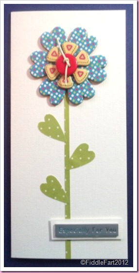 Cardstock flower embellishments with buttons