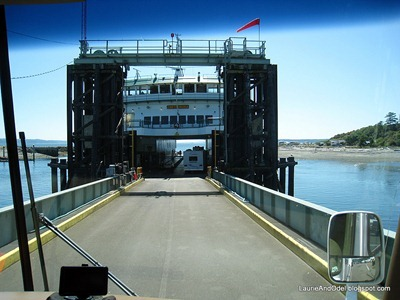 Boarding the ferry to PT