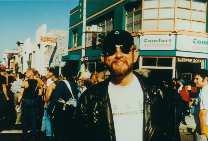 Greg Day at Folsom Street Fair, San Francisco. September 1992.