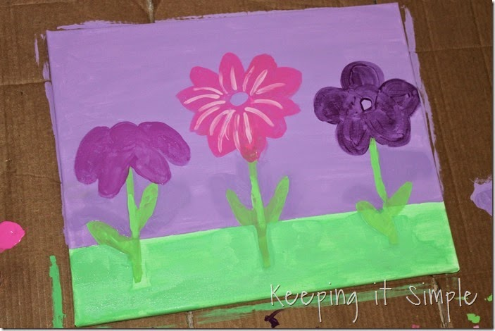 butterfly and flower painted canvas #DecoArt (6)