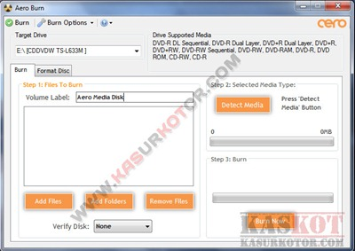 Software Burn CD/DVD yg Ringan dan Kecil- Aero Burn