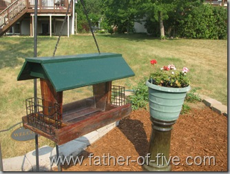 remodeled bird feeder