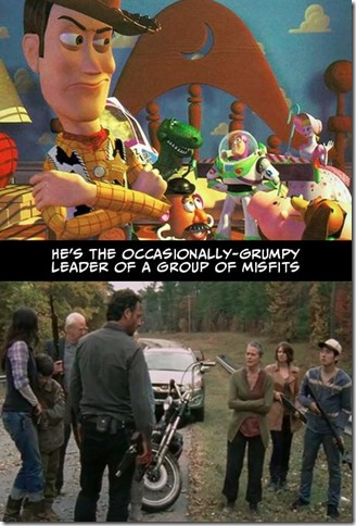 Walking Dead v Toy Story 2
