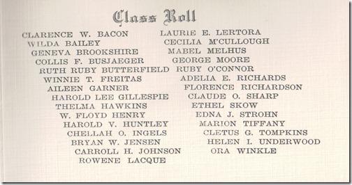 Class Roll