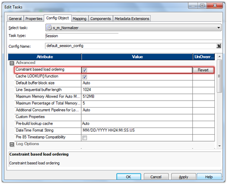 Informatica PowerCenter Constraint Based Loading