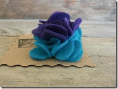 purple turquoise flower pin