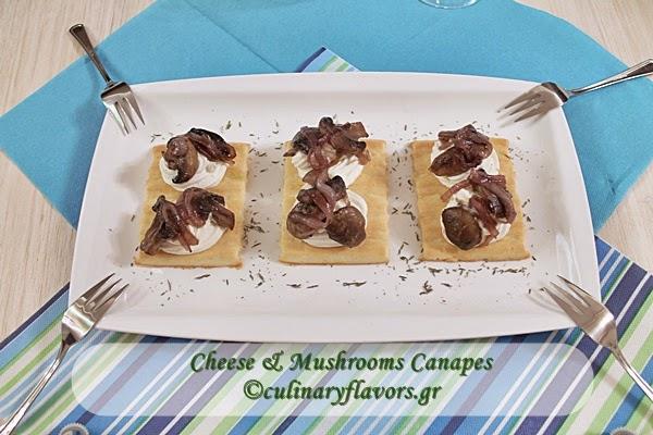 Cheese and Mushrooms Canapes.JPG