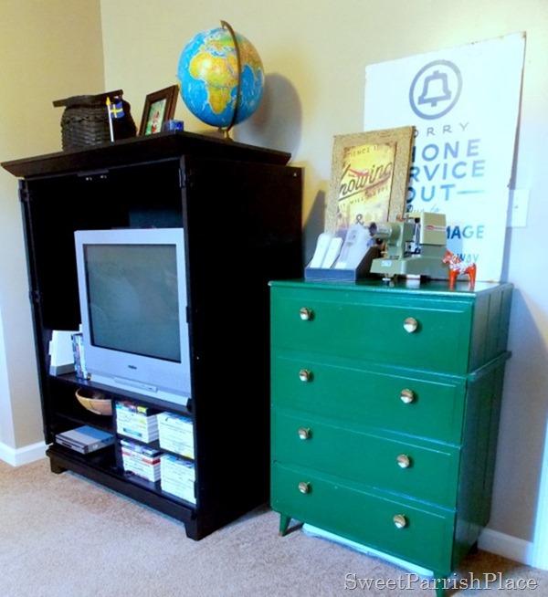 green mcm dresser